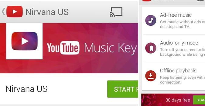 """""""YouTube"""" Music Key pullu musiqi xidmətini təqdim edib"""